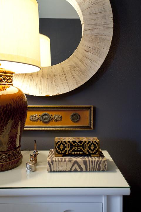 Bedroom bedside decoration ideas - an Eclectic Home in OC