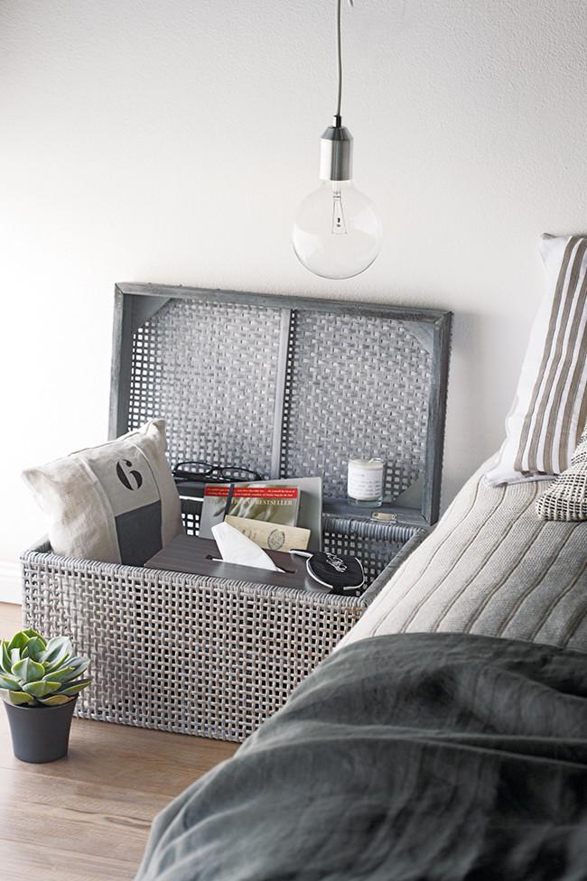 Bedside storage basket - Fresh Home Decorating Ideas