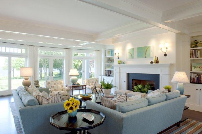 Warm the living room according to your interior design - How to arrange two sofas in living room ...