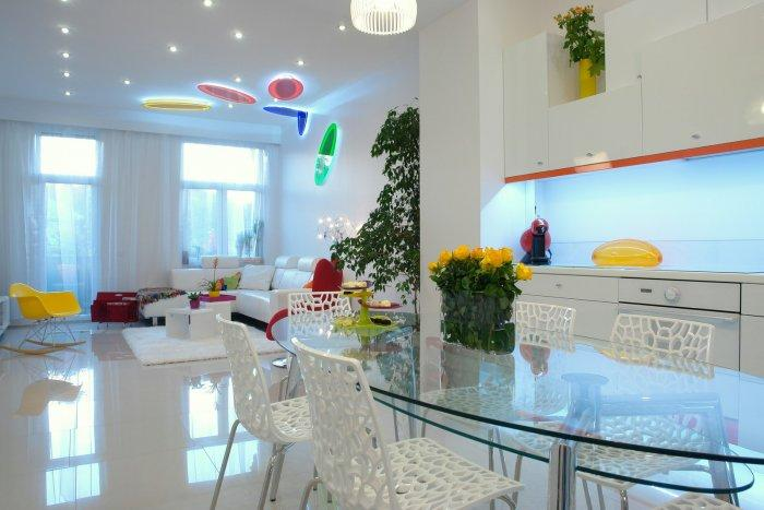 Colorful Interior Design of an Apartment in Budapest
