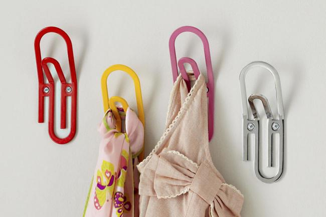 Creative wall hooks - Decorative Ideas for Small Apartments