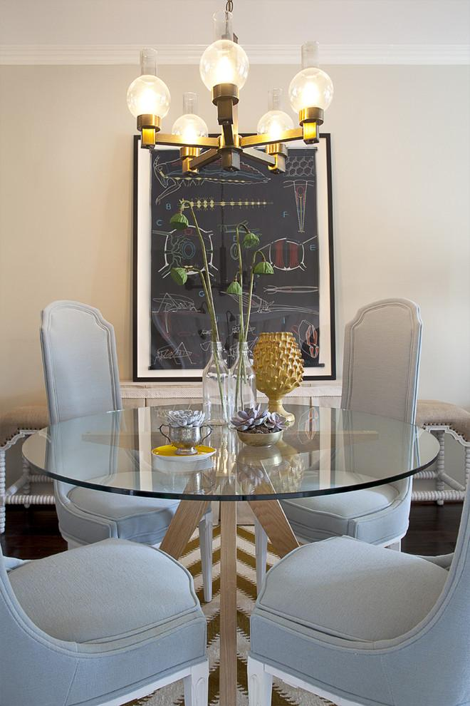 Eclectic interior design of a dining room - a Home in OC
