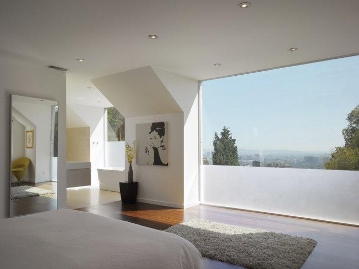 Full-height windows provide excellent bedroom views - 8 Ideas for a Cozy Home