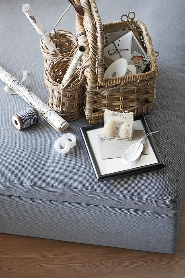 Gift Wrapping Items Storage Basket - Fresh Home Decorating Ideas