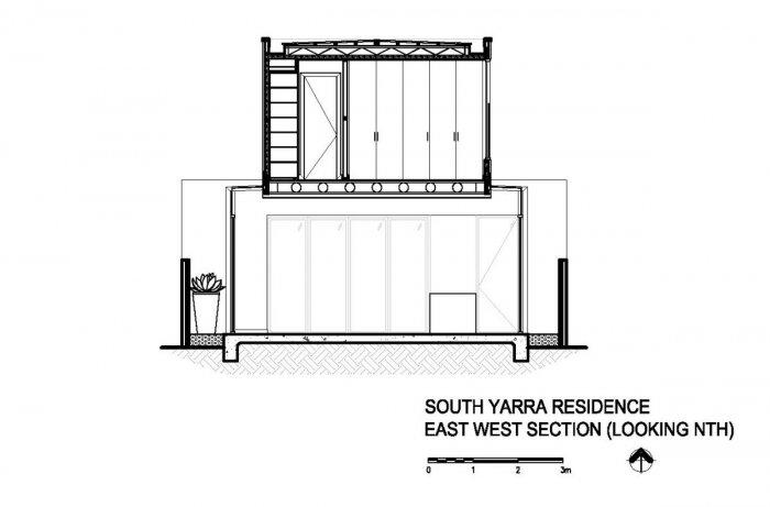The architectural plan of the house - Outstanding Stylish House in Melbourne