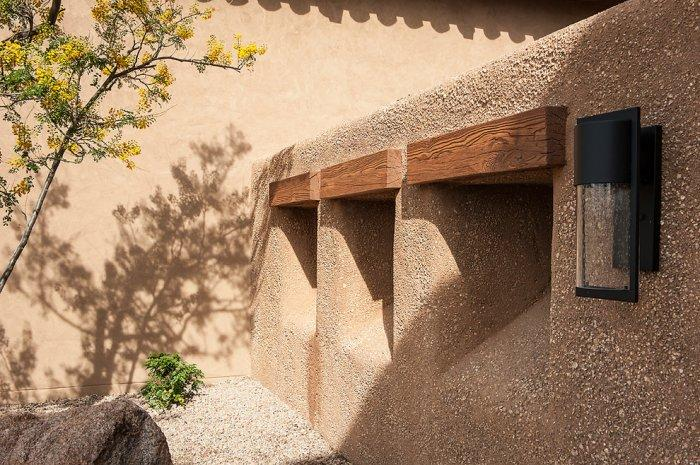 Integral-color stucco - Luxury Rustic Family Desert House in Arizona