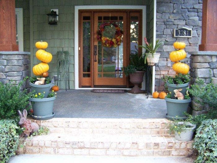 Main entrance door Halloween decorations - 36 Ideas for Your Home
