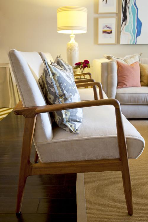 Mid-century modern living room chairs - an Eclectic Home in OC