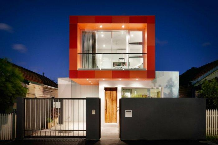 Modern house with orange facade - Outstanding Stylish House in Melbourne