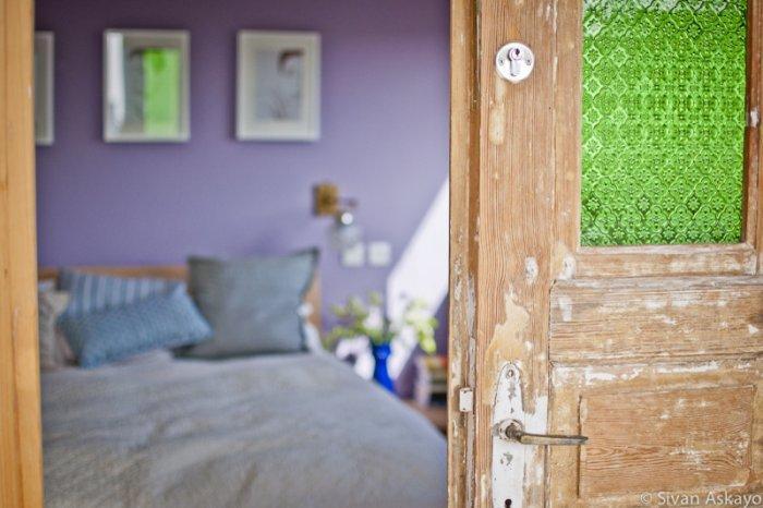Old rustic bedroom door - Unique Eclectic Home Interior
