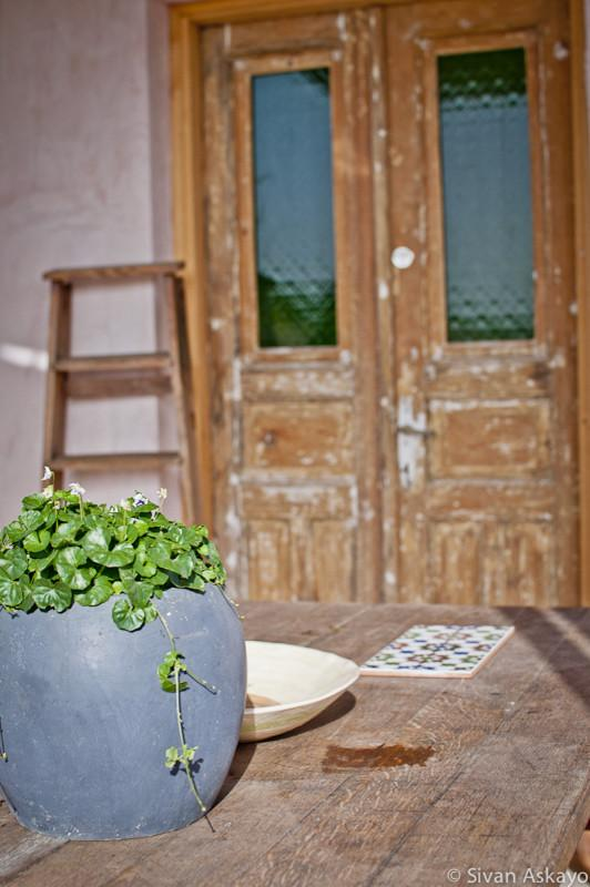 Old vintage terrace doors - Unique Eclectic Home Interior