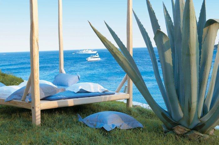 Romantic sun lounger overlooking the sea - The Paradise Seaside Mediterranean Villa in Mykonos, Greece
