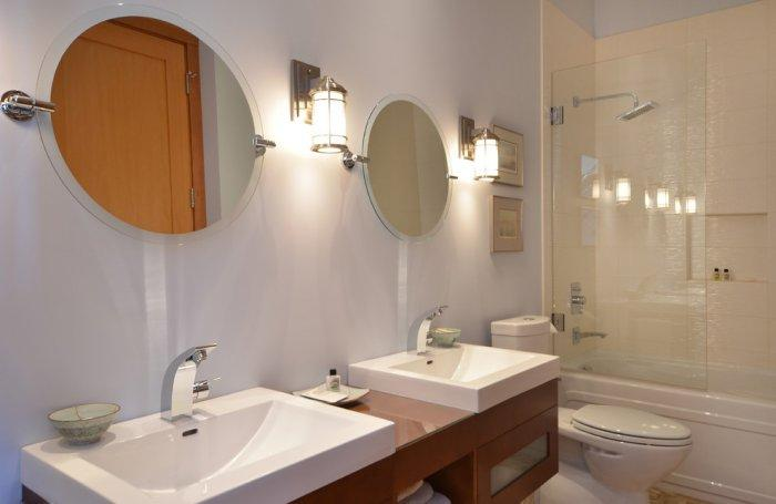 Small guest bathroom in white colors - The Dream Coastal House With Heavenly Ocean Views