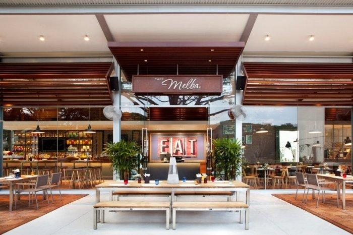 The lovely cafe Melba in Singapore by Designphase dba