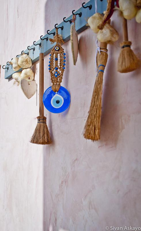 Vintage hand-made key rack - Unique Eclectic Home Interior