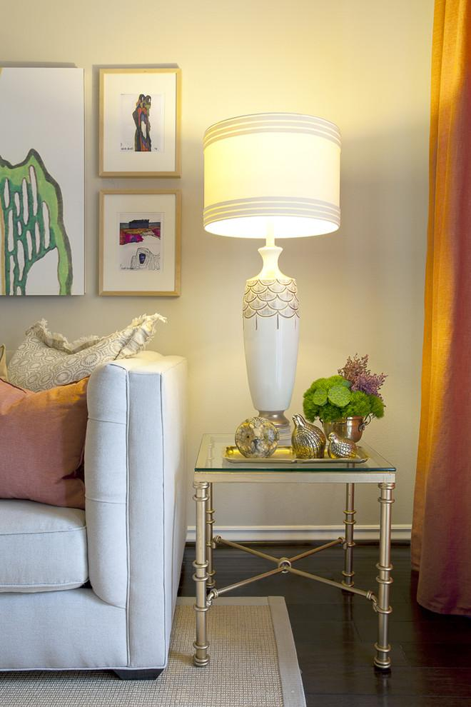 White classic table lamp - an Eclectic Home in OC