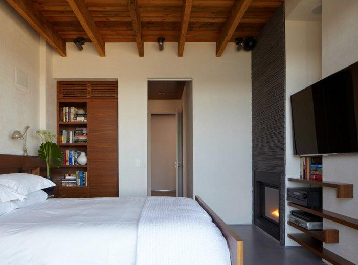 Wooden bedroom ceiling - 8 Ideas for a Cozy Home