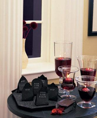 Candy-Filled Headstones - 34 Ideas for Halloween Table Decorations - How To