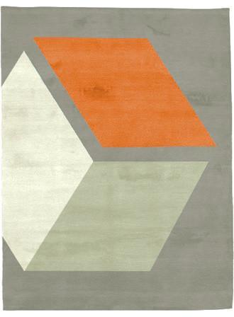 Cubizzmo No. 3 Rug - Inspiring Autumn Decorating Ideas in Cute Orange Colors