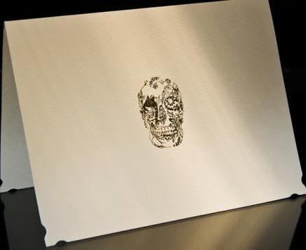 Delft Skull Stationery - 25 Sweet and Ghoulish Halloween Decor Ideas and Items