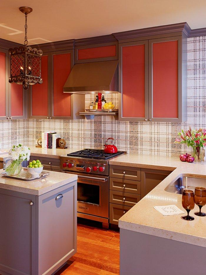 Edwardian kitchen interior with colorful accents - The Best Homes for 2013