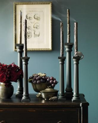 Eerie Gothic Candlestick Display - 34 Ideas for Halloween Table Decorations - How To