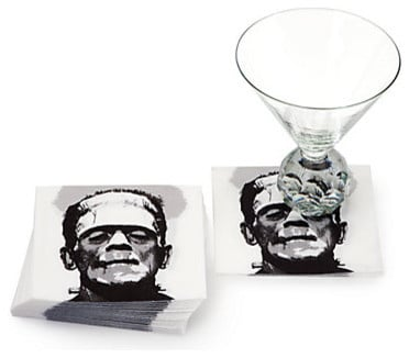 Frankenstein Beverage Napkins - 25 Sweet and Ghoulish Halloween Decor Ideas and Items