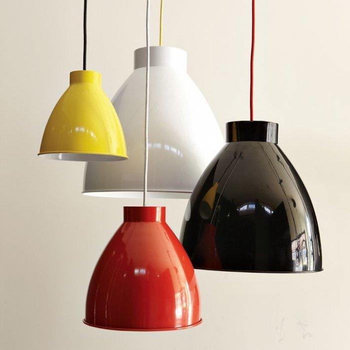 Industrial Pendant - Inspiring Autumn Decorating Ideas in Cute Orange Colors