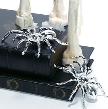 Metallic Spider - 25 Sweet and Ghoulish Halloween Decor Ideas and Items