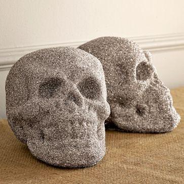 New Glitter Skull - 25 Sweet and Ghoulish Halloween Decor Ideas and Items