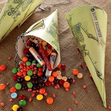 New Skeleton Papercone - 25 Sweet and Ghoulish Halloween Decor Ideas and Items