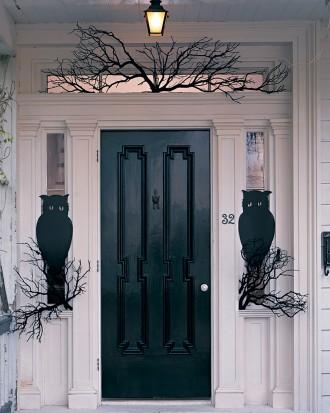 Owl Night Watchers - How to Decorate your Outdoor Areas for Halloween