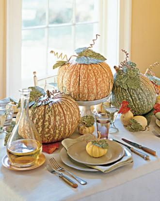 Pumpkin Trio Centerpiece - 34 Ideas for Halloween Table Decorations - How To