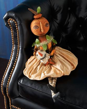 Simply Miss Pumpkin Halloween Doll - 25 Sweet and Ghoulish Decor Ideas and Items