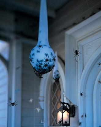 Spider Egg Sac - How to Decorate your Outdoor Areas for Halloween