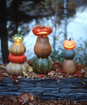 Stacked Jacks - How to Decorate your Outdoor Areas for Halloween