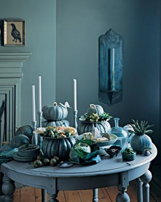 Stacked Pumpkin Tableau - 34 Ideas for Halloween Table Decorations - How To