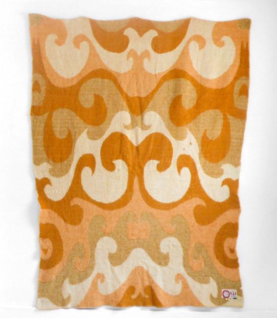Vintage Wool Blanket by Hindsvik - Inspiring Autumn Decorating Ideas in Cute Orange Colors