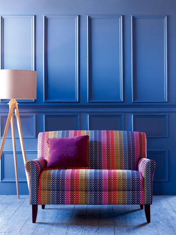 A colorful sofa by Mark and Spencer - Trends in Colors for Autumn/Winter 2013