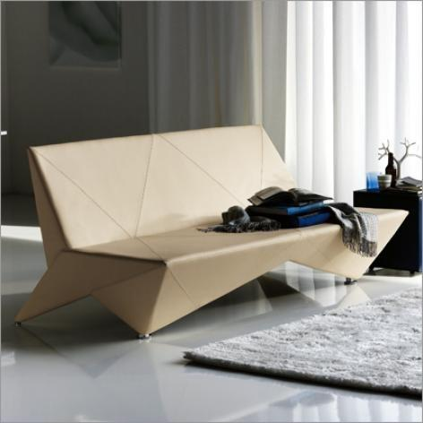 Adjustable origami sofa bed in white - 20 Totally Extravagant Fantasy Home Furniture Pieces