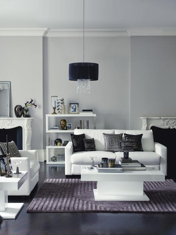 Classic interior design combination of black and white - Trends in Colors for Autumn/Winter 2013