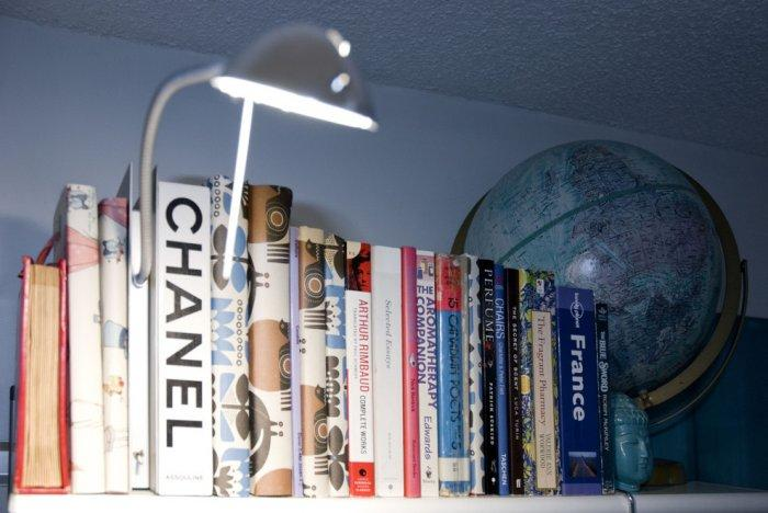 Collection of books and an IKEA lamp - Loft in Vancouver with Vintage and Classic Touch