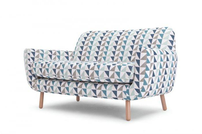 Colorful sofa in geometrical patterns - Trends in Colors for Autumn/Winter 2013