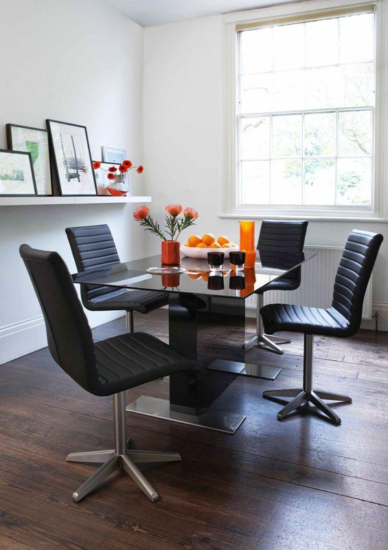 Contemporary dining room with black chairs - Trends in Colors for Autumn/Winter 2013