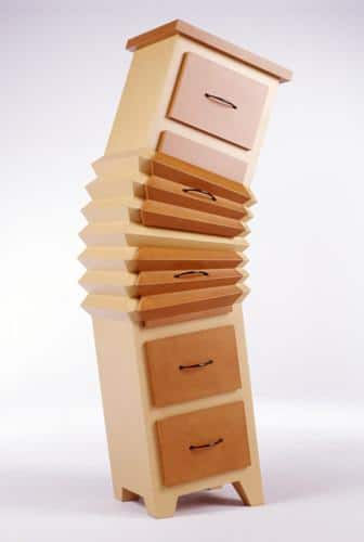 Creative brain drawers in pale brown color - 20 Totally Extravagant Fantasy Home Furniture Pieces