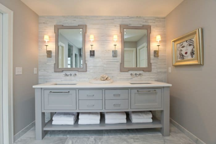 Bathroom Remodel Grey Tile bathroom remodeling ideas using tiles and vanities | founterior