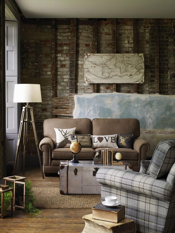 Eclectic living room interior design - Trends in Colors for Autumn/Winter 2013