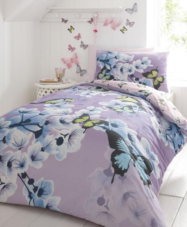 Floral bedding set in pale purple - Trends in Colors for Autumn/Winter 2013