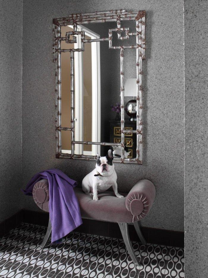 French Bulldog on a classic couch - How the Dogs fit in our Home Interior Design