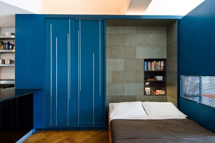 Functional small apartment with blue accents - The Best Homes for 2013
